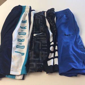 3 pairs Boys Large Nike sports shorts